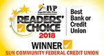 Readers' Choice 2018 Winner - Best Bank or Credit Union - Sun Community Federal Credit Union